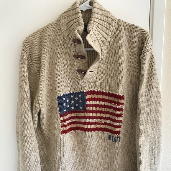 '67 Polo Rl Sweater Lauren By Vintage Flag Ralph f67ybg